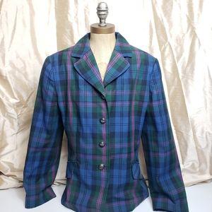 Tommy Hilfiger   Vtg Plaid Blazer Coat Jacket
